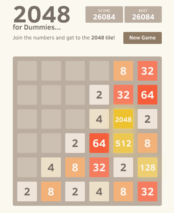 2048 for Dummies Screenshot